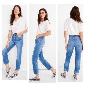 New Madewell Classic Straight Jeans Novello Wash